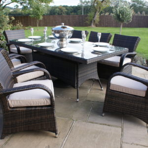 Texas 8 Seat Rectangle Rattan Dining furniture