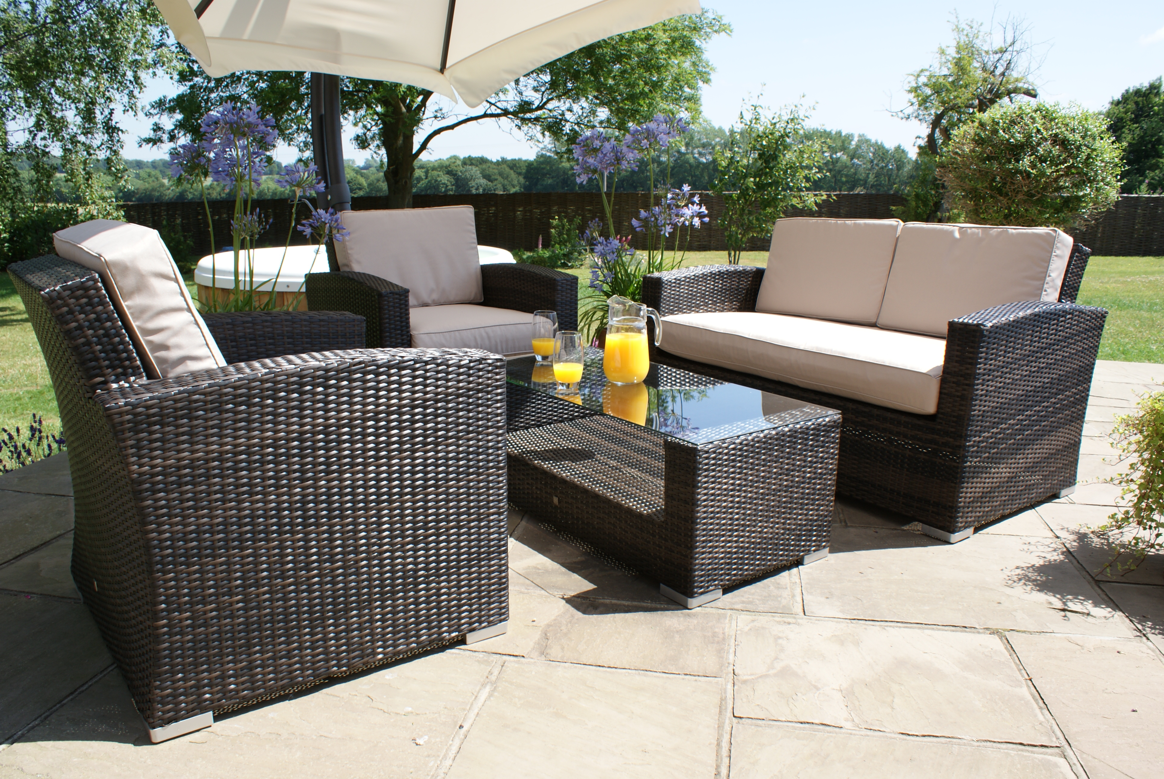 Kingston 2 Seat Outdoor Sofa Set