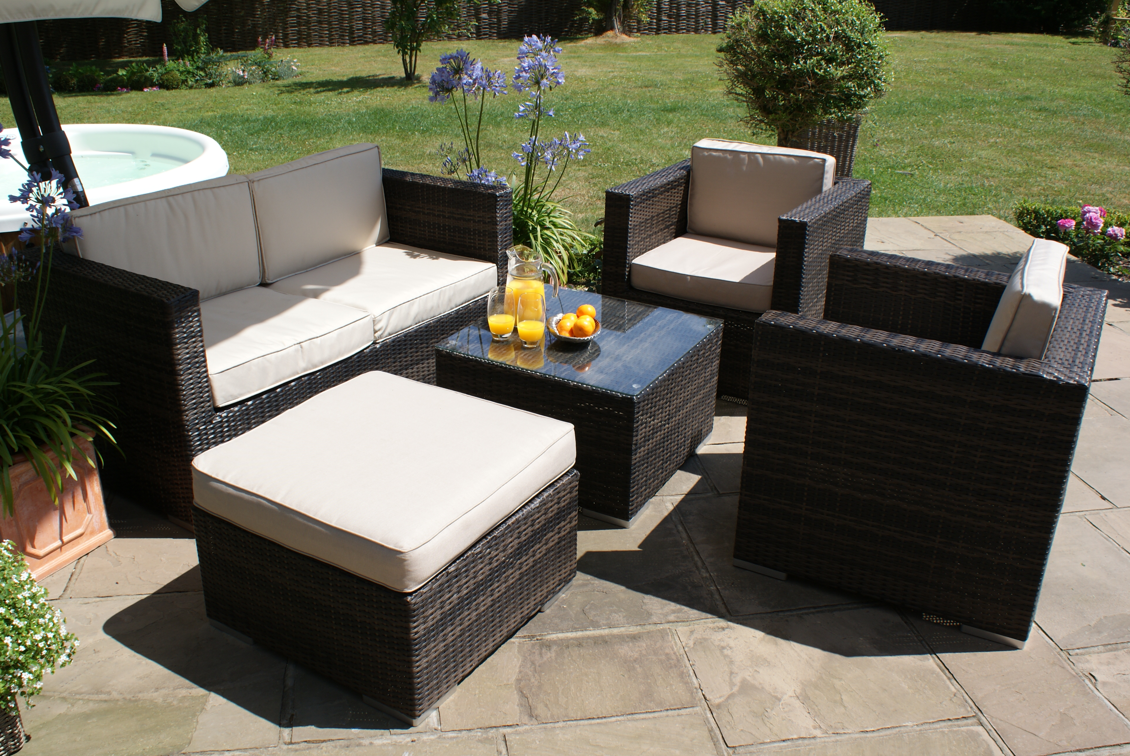 5 Piece Garden Sofa Set