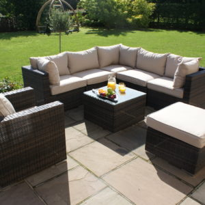 Indoors & Outdoor Rattan London Corner Sofa set
