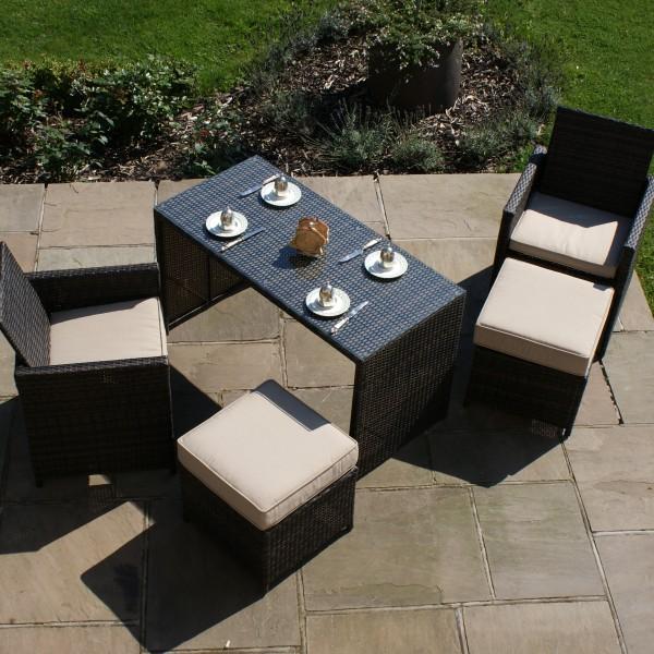 Balcony Cube Rattan Furniture