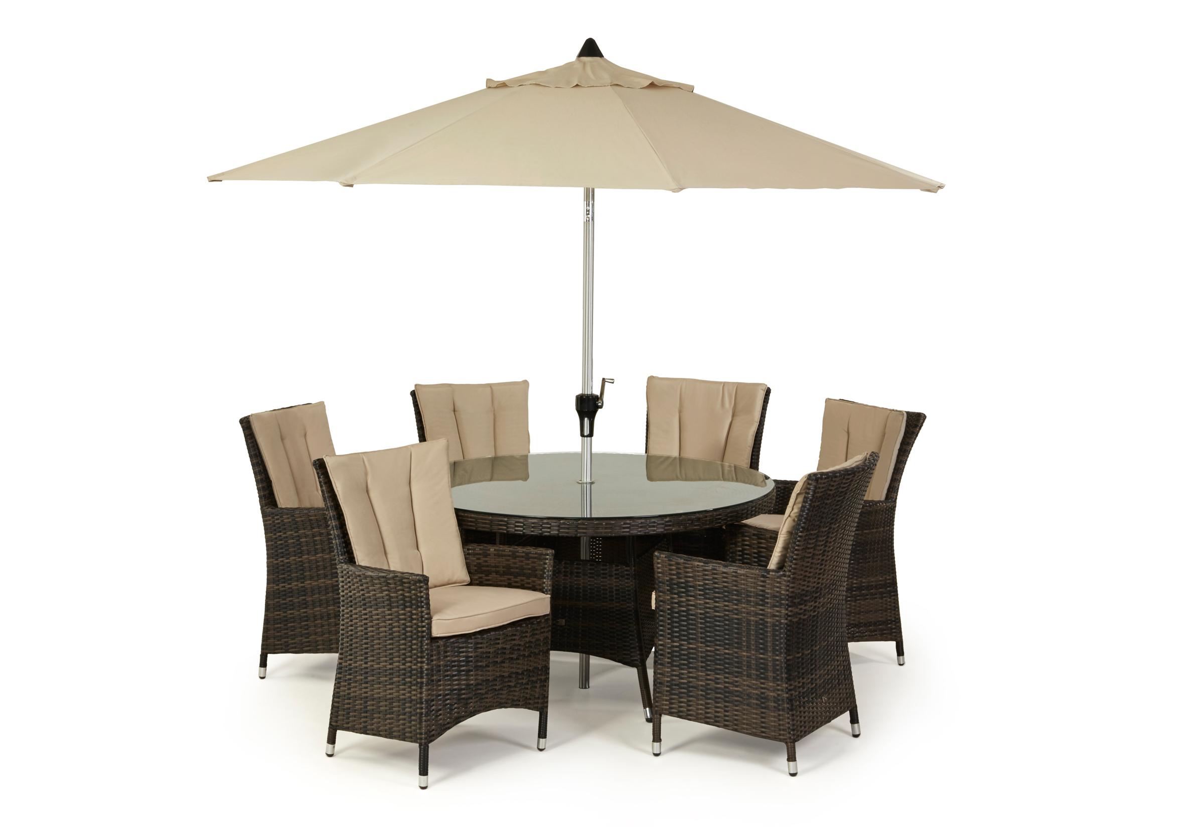 la 6 seat round dining set crownhill