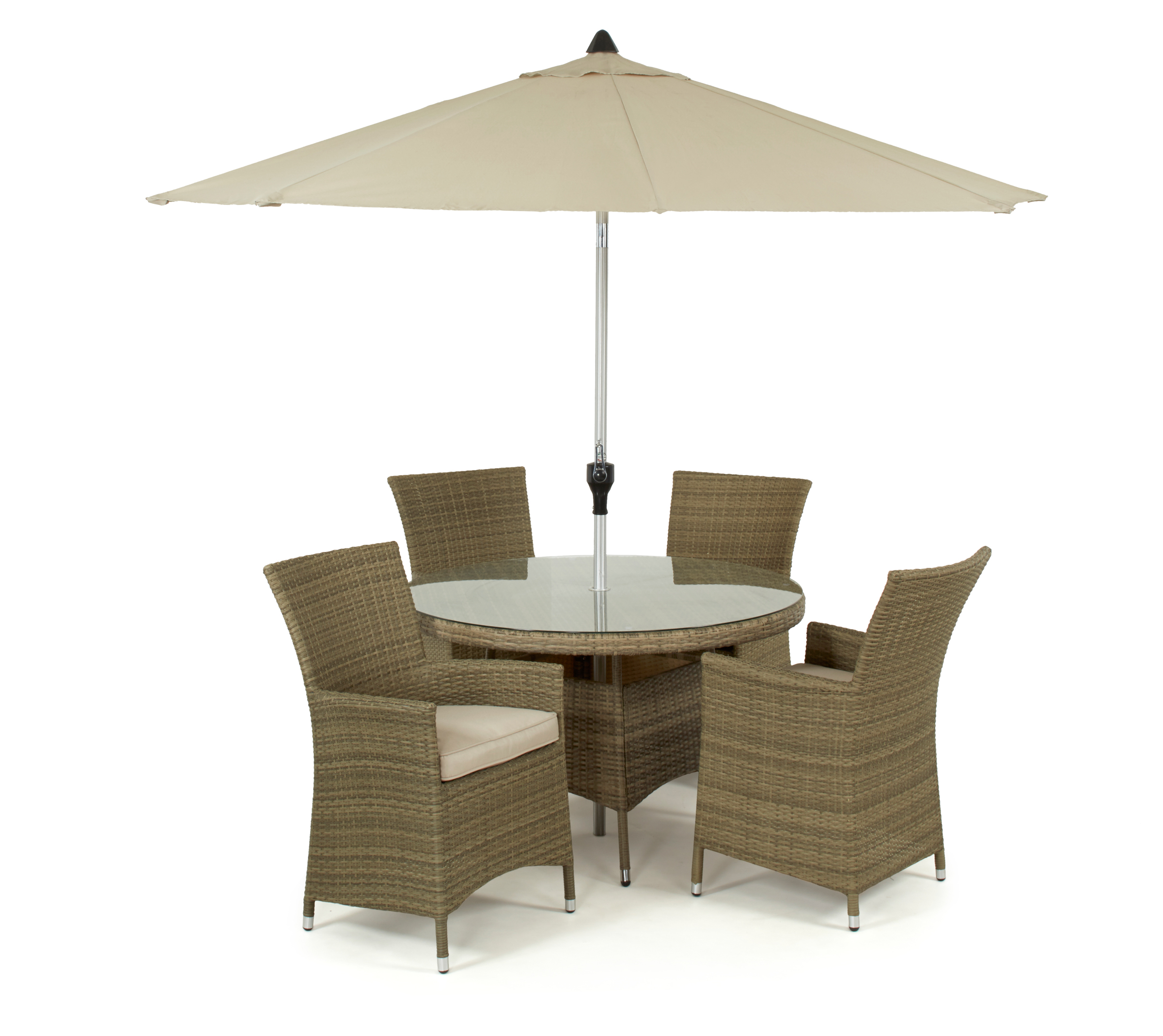 The Tuscany LA 4 Seat Round Garden Dining Set