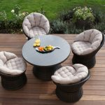4 Seater Swivel Dining Set