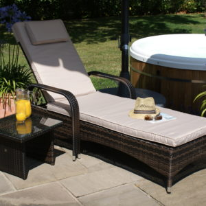 Florida Rattan Sun Lounger Set