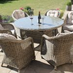 Winchester 6 Seat Round Dining Set with Round Chairs
