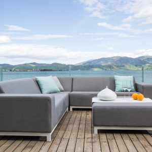 Devane Small Corner sofa with Ottoman