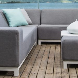 Devane Small Corner sofa with Ottoman