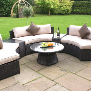 Half Moon Sofa Set On Patio
