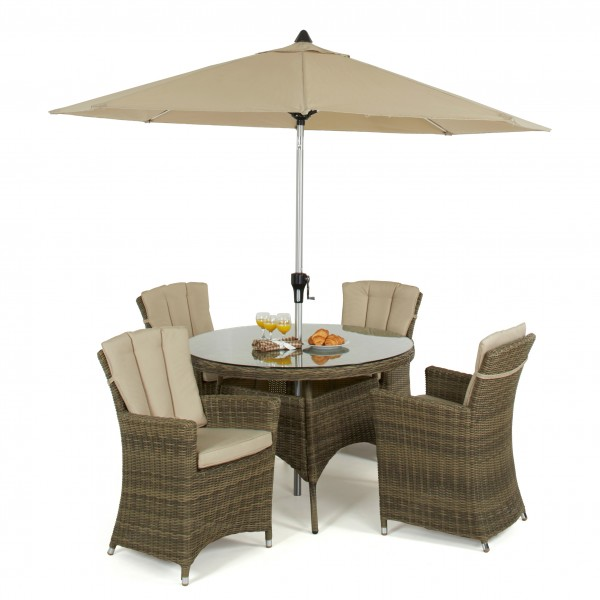Winchester 4 Seat Round Dining Set