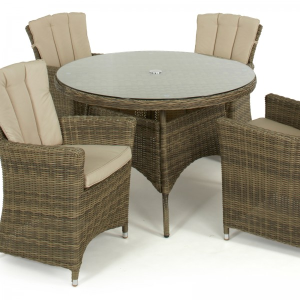 Winchester 4 Round Dining Set