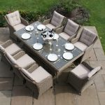 Winchester 8 Seat Rectangular Dining Set with Square Chairs