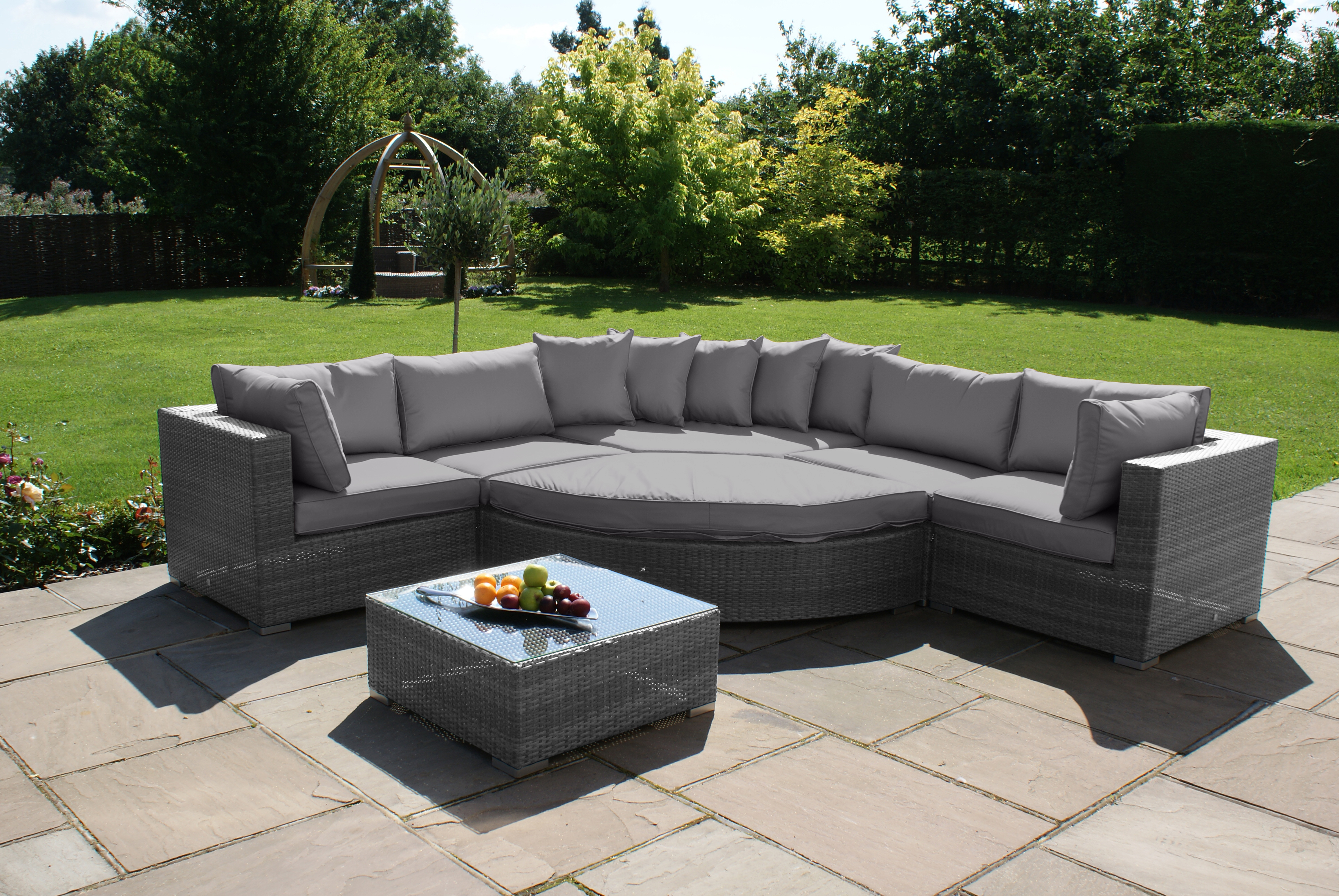 barcelona deluxe rattan corner sofa set crownhill. Black Bedroom Furniture Sets. Home Design Ideas