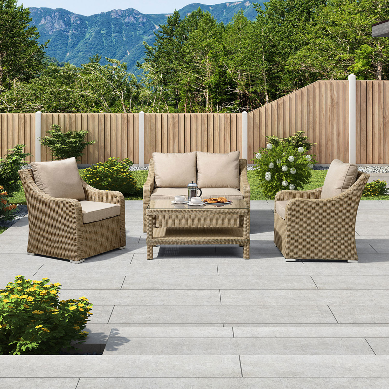 Pleasant Nova Heritage Harper 2 Seat Rattan Sofa Set Willow Ncnpc Chair Design For Home Ncnpcorg